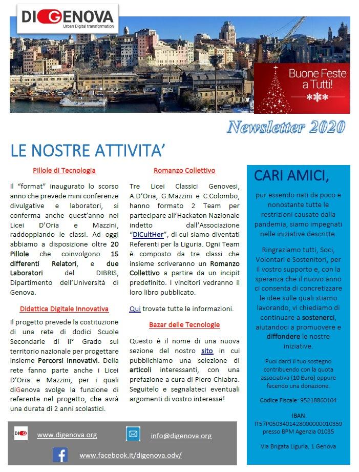Newsletter diGenova n. 1 – Dicembre 2020
